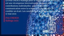 Appel à candidature du Prix UNESCO Kalinga de vulgarisation scientifique